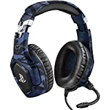 Trust Gaming GXT 488 Forze-B [Officially Licensed for PlayStation] Gaming Headset for PS4 and PS5 with Flexible Microphone and Inline Remote Control - Blue