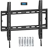 Amazon Brand - Eono Fixed TV Wall Bracket, Ultra Slim TV Wall Mount for Most 26-55 inch LED, LCD OLED and Plasma TV with VESA 75x75-400x400mm up to 45.5kg, Super Strong TV Bracket incl. Fischer Anchor