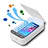 KEMOO Cell Phone UV Sanitizer,Portable Smart Phone Sterilizer,LED UV Light Cleaner Box with Aromatherapy Function, Disinfector for Mobile Phone Toothbrush Keys Jewelry Watch