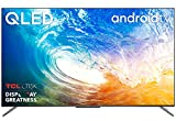TCL 55C715K 55 Inch QLED Television, 4K Ultra HD HDR 10+ Dolby Vision, Smart Android TV with Freeview Play, Prime Video, Hands-Free Voice Control, Frameless Design, Works with Google Assistant & Alexa