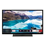 Toshiba 24WL3A63DB 24-Inch HD Ready Smart TV with Freeview Play - Black/Silver (2019 Model)