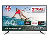 Ferguson F4020RTS 40 inch Smart Full HD LED TV with streaming apps and catch up TV built-in | Made in the UK