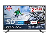 Ferguson F5020RTS4K 50 inch Smart 4K Ultra HD LED TV with streaming apps and catch up TV built-in | Made in the UK