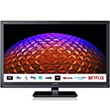 Sharp 1T C24BC0KR1FB 24 Inch Smart TV, HD Ready LED Display with DTS Studio Sound, Dolby Digital Audio Decoder, 2 x HDMI, 2 x USB, Freeview Play and Wireless Streaming - Black