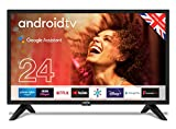 """Cello ZG0242 24"""" Smart Android TV with Freeview Play, Google Assistant, 3 x HDMI and 2 x USB, HD Ready Made in the UK"""