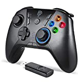 EasySMX Wireless Game Joystick Controller, 2.4G Wireless Gamepad Joystick PC, Dual Vibration, 8 Hours of Playing for PC /PS3/for Nitendo Switch/Switch Lite/Android Phones, Tablets, TV Box Gamepad