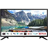 SHARP 1T C32BC3KH2FB 32 Inch Smart TV, HD Ready LED Display with Harman/Kardon Speakers, Dolby Digital Audio Decoder, 3 x HDMI, 2 x USB, Freeview Play and Wireless Streaming - Black