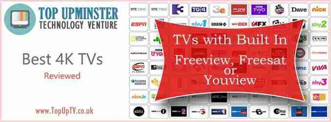 Best TVs with Built-in Freeview, Freesat or Youview 2019
