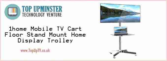 1home mobile tv cart floor