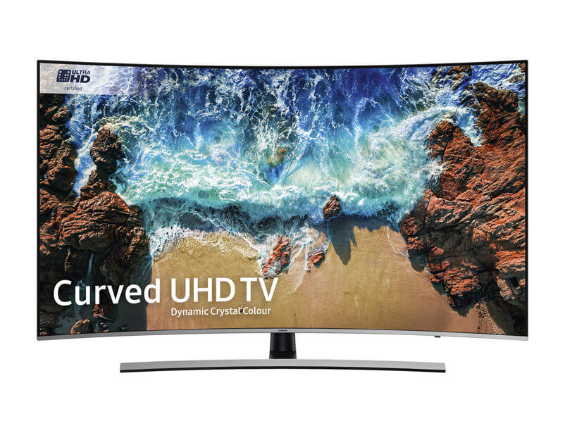 Best Curved 4K TV 2018 Samsung NU8500 Curved Dynamic Crystal Colour Ultra HD certified HDR 1000 Smart 4K
