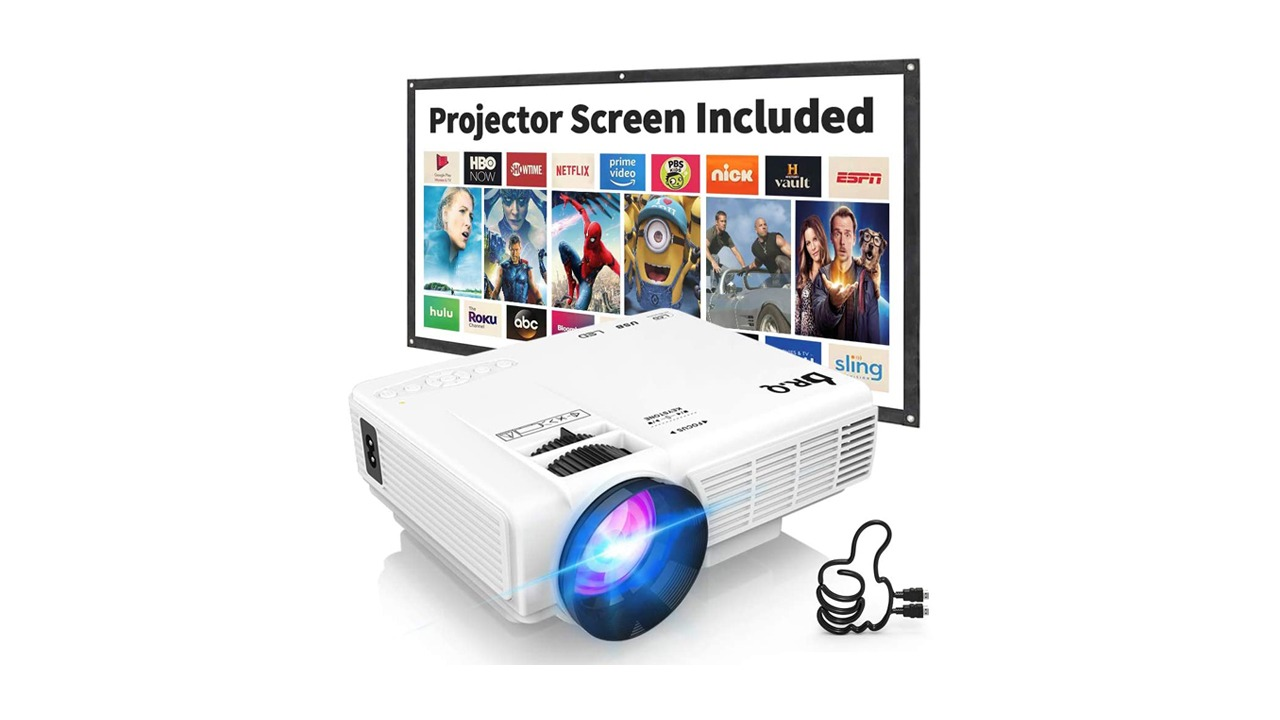 DR.Q HI-04 Projector with Projection Screen