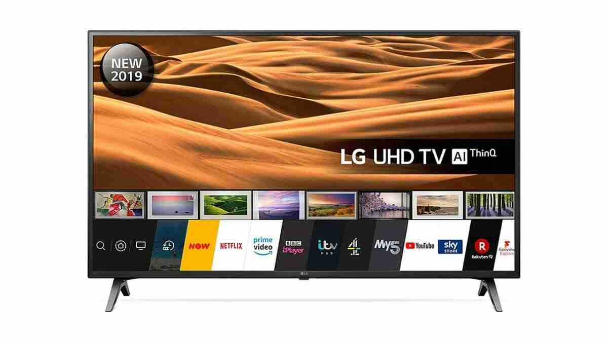 tv dimensions LG UHD ThinQ