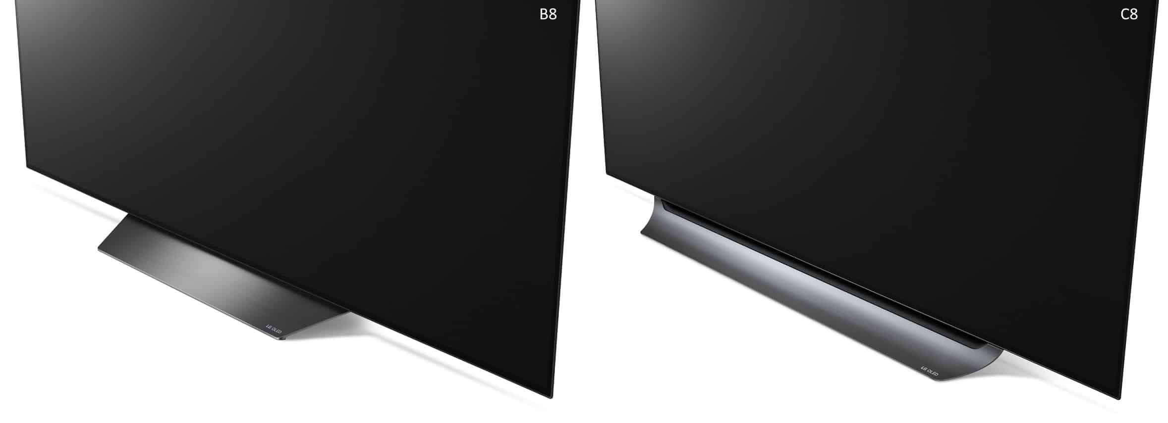 LG OLED B8 vs C8 difference 2018 oled 4k tv stand