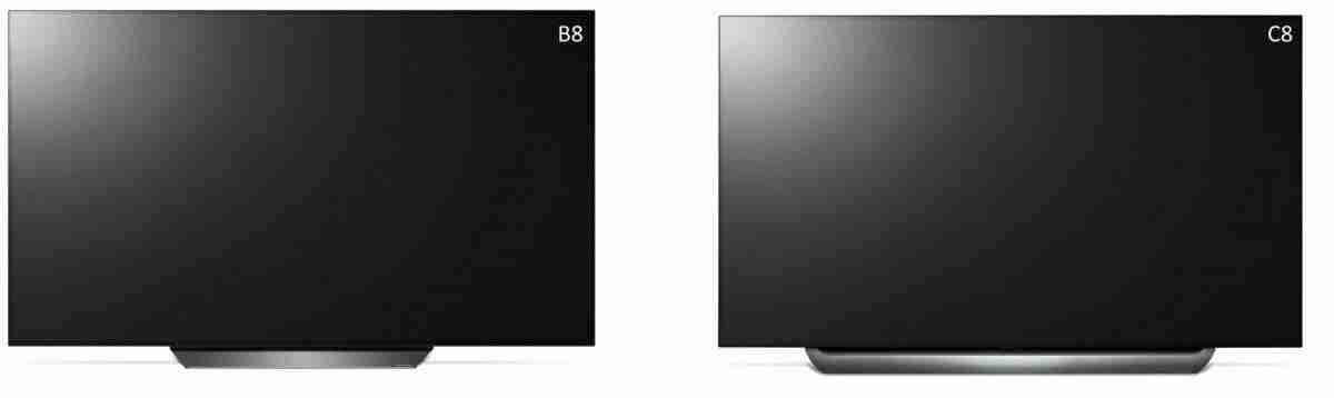LG OLED B8 vs C8 difference 2018 oled 4k tv