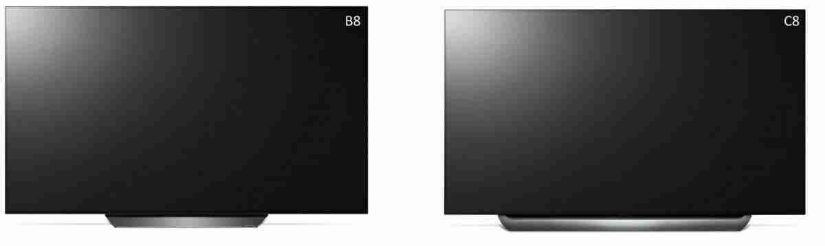 LG OLED B8 vs C8 difference 2018 oled 4k tv