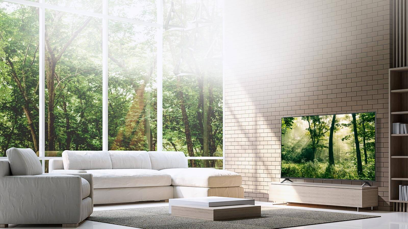 LG SK8000 Super UHD 4K HDR Premium Smart LED TV with Freeview Play - Brilliant Titan display environment