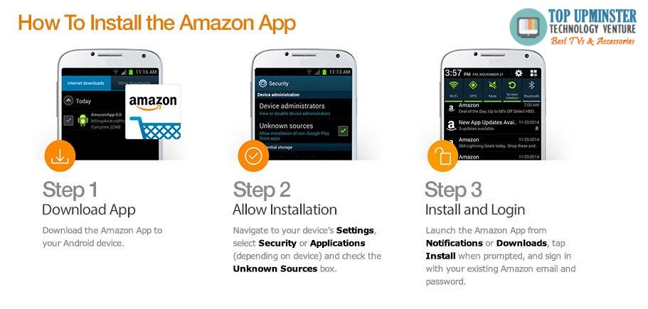 how to install the amazon app
