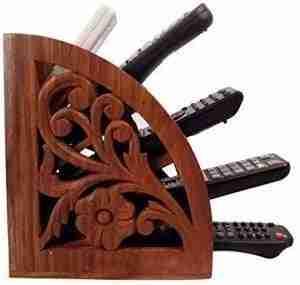 remote control holder   Rustic Wood Remote Control Caddy