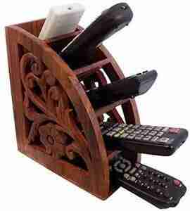 remote control holder | Rustic Wood Remote Control Caddy
